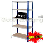 SUPER HEAVY DUTY WIDE WAREHOUSE STORAGE SHELVING RACKING 1770x1200x600mm *265KG*