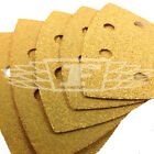 5 PACK DELTA DETAIL SANDER SHEETS YELLOW ALUMINIUM OXIDE MEDIUM SANDING 742091