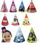 6 PARTY HATS - LICENSED CHARACTER DESIGNS (Birthday Party Decorations){Set 3}