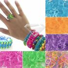 New 185-200 Mix Color Glitter Jelly Rubber Bands 15 Clips 1 Hook Loom Refill JA