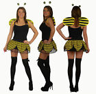 Childrens Busy Queen Bee Petal Tutu Skirt  Summer Insect Fancy Dress with Wings