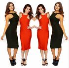 Bodycon Women 4 Colors Sleeveless Round Neck Vest Long Skirt Evening Party Dress