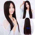 Sexy Fashion Women's Wig Long Straight Cosplay Party Hair No Bang Full Wigs