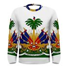 Haiti Haitian Coat of Arms Sublimated Men's Long Sleeve T-Shirt S,M,L,XL,2XL,3XL