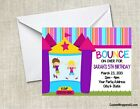 Bounce House Moonbouce Birthday Party Invitations Personalized