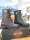 NEW Harley Davidson Womens Leather Boot Boots Shoes Medium Black Matisa