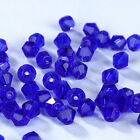Fashion DIY jewelry 3/4mm100/1000pcs Glass Crystal #5301 Bicone Beads Dark blue