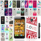For Alcatel One Touch Fierce 7024W Art Design TPU SILICONE Case Cover + Pen