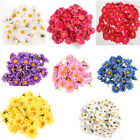 FABRIC FLOWERS SILK DAISY HEADS DAISIES EASTER BONNET WEDDINGS PARTY DECORATION