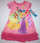 Nwt New Disney 6 Princess Nightgown Pajamas Sleepwear SS Pink Nice Cute Girl