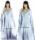 Medieval Silver Arwen Guinevere Game of Thrones Dress Gown Costume - M/L 10-12