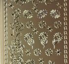 Sheet of Gold Mixed Daisy Flower Chain Stickers Scrapbooking Card Making 005G