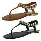 Steve Madden Hottstuf Women's Thong Sandals Gold Chain