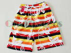 Leaf Stripe Couple Beach Swim Pants Surf Board Polyester Casual Quick Dry Shorts
