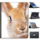 Bunny Rabbits Folio Cover Leather Case For Apple iPad