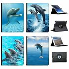 Dolphins Folio Cover Leather Case For Apple iPad