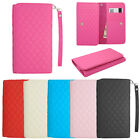 Checker Universal Wallet Pouch Cover Case For HTC Desire 610 Accessory