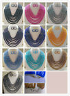 Fashion DIY 8 rows jewelry 30 color Crystal beads necklace,Earrings/sets NO02