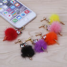3.5mm Fox Bling Anti Dust Earphone Plug Cover Stopper Cap For iPhone HTC Samsung