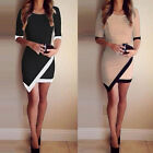 Sexy Women Summer Bandage Bodycon Evening Party Irregular Mini Dress Vogue
