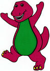 "7-10.5"" BARNEY  WALL SAFE STICKER CHARACTER BORDER CUT OUT"