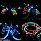 LED LIGHT UP GLOW SHOELACES FLASH SHOE TRAINER LACE STRING PARTY SKATING RUNNING