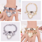 Fashion Women Love Rhinestone Chain Bracelet Wrist Watch Heart Watch Cheap
