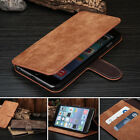 Deluxe Men's Wallet Flip Genuine Leather Stand Cover Case For iPhone 6 6S 7 Plus