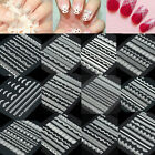 Fashion Girl 3D Nail Art Lace Flower Tips Stickers Decals Wraps Manicure Design