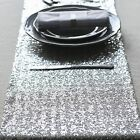 "New 12""x108"" Silver Sequin Table Runners Wedding Sparkly Bling Party Decorations"