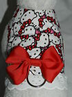 DOG CAT FERRET Custom Harness-Adorable HELLO KITTY Galore Red Lace & RED Bow