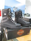 NEW Harley Davidson Mens Leather Boots Shoes Medium Black Thomas