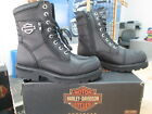 NEW Harley Davidson Womens Leather Boots Shoes Medium Black Sydney