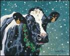 ART PRINT, FRAMED PRINT OR PLAQUE - FACE TO FACE WINTER  BY BONNIE MOHR - COW111