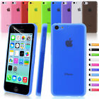 Ultra Matte Crystal Slim Thin Clear Hard Back Case Cover For Apple iPhone 5C