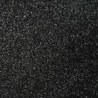 Glitter Sparkle Black Carpet Remnants Roll Lounge Bedroom Stairs Cheap 4m Wide