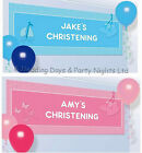 4ft Personalised Baby Christening/Holy Communion Booties Banner Party Decoration