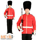 Royal Guard + Hat Mens Fancy Dress British Palace Soldier Uniform Adults Costume
