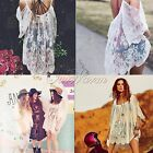 Women Lady Bikini Swimwear Cover Up Beach Dress Casual Lace Summer Wear 4Size