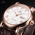 KS Imperial 6 Colours Automatic Mechanical Date Day Leather Mens Wrist Watch