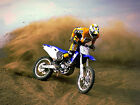 MOTORCROSS 03 FRAMED CANVAS ART PRINT A0 A1 A2