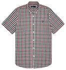 Fred Perry Gingham Red check Short Sleeved Shirt RRP £64.99 *BWNT*