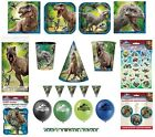 JURASSIC WORLD Birthday Party Range (Kids/Tableware/Decorations)(Dinosaurs/Park)