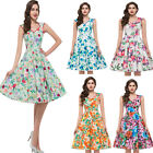 NEW Womens 50's 60s VIntage Inspired Rockabilly Swing Pin Up Evening Dance Dress