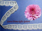 """7 Yards Lace Trim White Scalloped 5/8"""" Picot KAV Added Items Ship No Charge"""