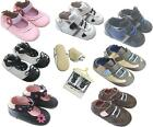 Baby Infant Toddler Kids Children Boy Girl First Walk Leather Rubber Shoes 0-2 Y