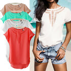 Casual Women's Blouse Short Sleeve Chiffon Blouse Shirt T-shirt Summer Tops