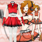 Vocaloid Meiko Red Dress Cosplay Costume Full Set FREE P&P