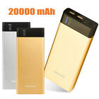 20000mAh External Battery Charger 2 USB Power Bank Charger For Samsung Galaxy S6