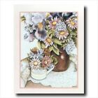 Country Flowers Watercolor Wall Picture